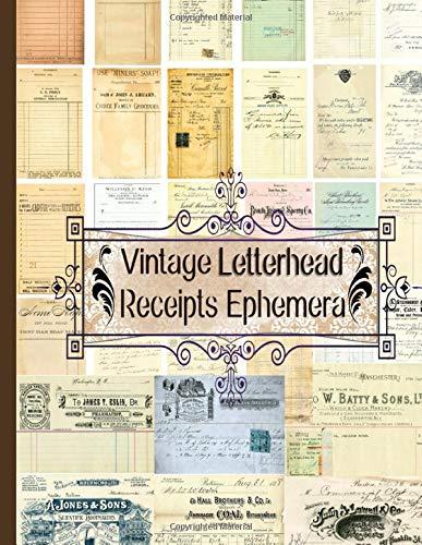 Vintage Letterhead Receipts Ephemera (Ephemera Series 2)