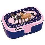 Lunchbox * Pferdefreunde Plus Wunschname * für Kinder von Lutz Mauder   Pferde Brotdose mit Namensdruck   Mädchen Vesperdose Brotzeit Reiten Pony Ponyhof