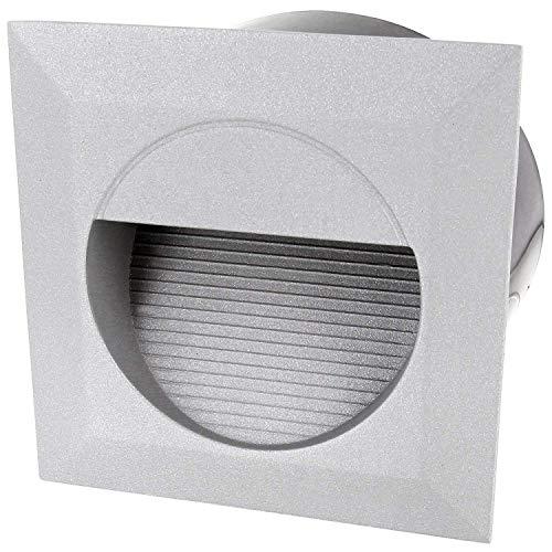 LED wandinbouwlamp gegoten aluminium incl. Inbouwdoos - 230 V IP65 - warmwit (3000 K)