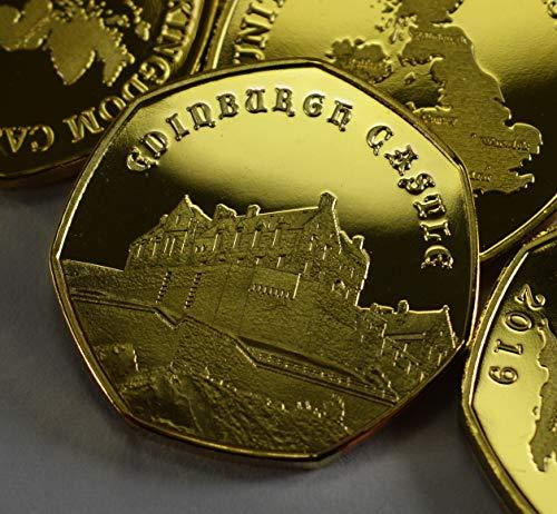 The Commemorative Coin Company Edinbury Castle Münzalbum für Münzen, 24 Karat Gold, für 50 Münzen, Jagdsammler 2019
