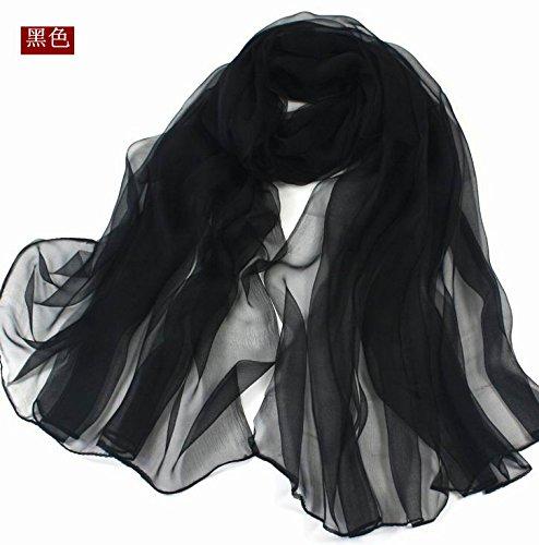 FLYRCX New Korean All-Match Genuine Silk Scarf Silk Scarf Shawl Scarf Female 170cmx110cm,Z