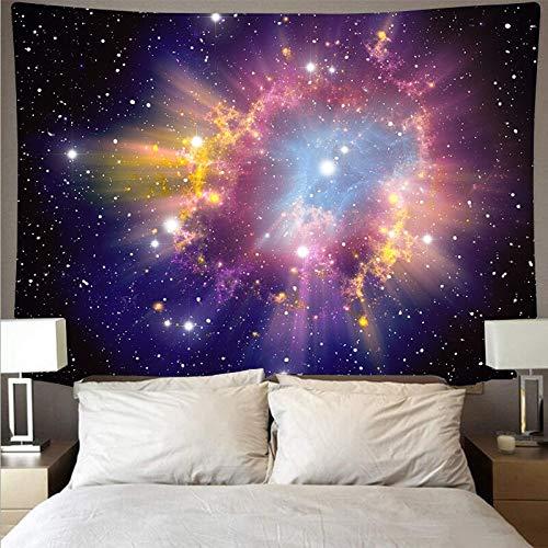 KHKJ Misterioso Universo Cielo Estrellado Cielo Espacio Galaxia Arte Tapiz psicodélico Colgante de Pared Toalla de Playa Tela Colgante A2 200x180cm