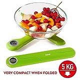 Tatkraft Compact Báscula de Cocina Digital Plegable 5Kg Tamaño de Bolsillo
