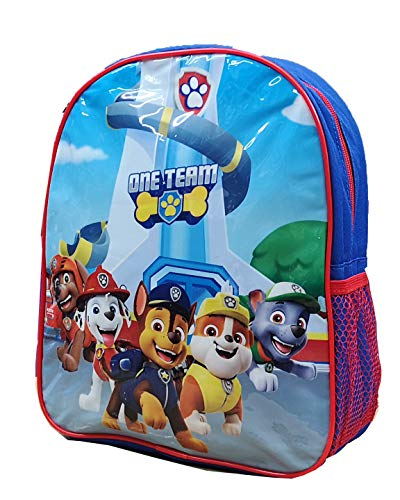 Official Licensed Kids Boys & Girls School Backpack with Side Mesh Pocket (Paw Patrol)