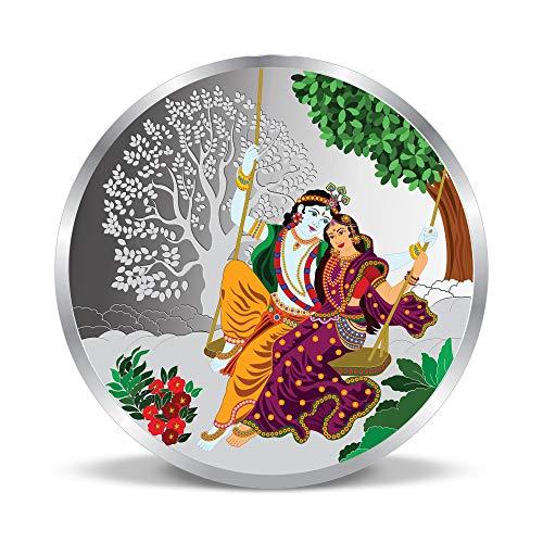 ACPL Precious Moments Radha Krishna on The Swing Silver Coin 999 Purity