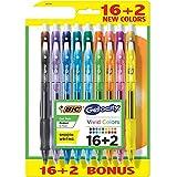 BIC Gelocity Original Gel Pen Fashion Colors 16+2 Count (18)