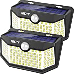 Solar Lights Outdoor 120 LED with Lights Reflector,Solar Motion Sensor Security Lights, IP65 Waterproof Solar Powered Wireless Wall Lights for Garden Patio Yard Deck Garage Fence Pool(2 Pack)