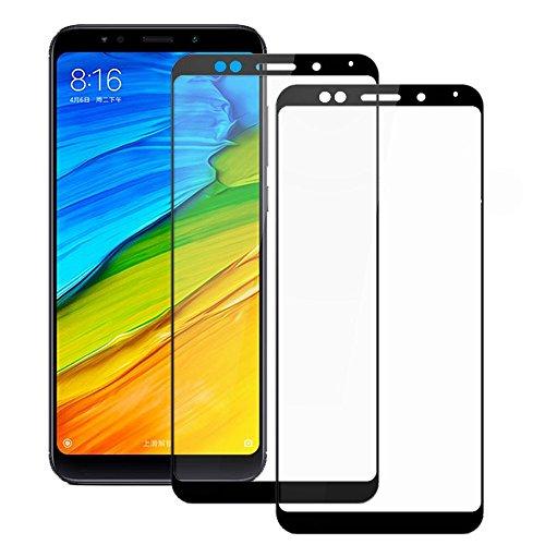 Electro-weideworld [2 Pack] Xiaomi Redmi 5 Plus Protector de Pantalla, 3D Pro-Fit Pantalla Completa Cristal Templado Pantalla Protectora para Xiaomi Redmi 5 Plus,Negro