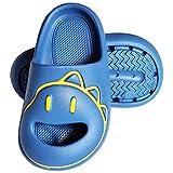 LÄTT LIV Boys Girls Cute Slide Sandals Kids Dinosaur Bath Shower Pool Slippers Quick Dry Beach Sandal,Blue,11-11.5 Little Kid