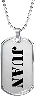 Juan - Luxury Dog Tag Necklace Personalized Name Birthday Gifts Jewelry