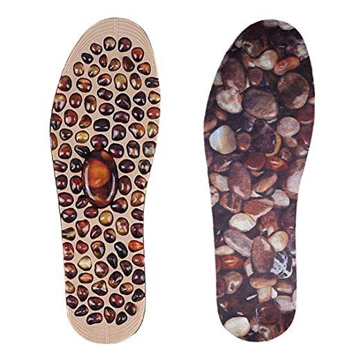 Adoquines plantillas del masaje de acupresión terapia del cojín del pie mejora la circulación sanguínea reflexología del pie de la plantilla de descompresión Hombres Mujeres S masaje en los pies