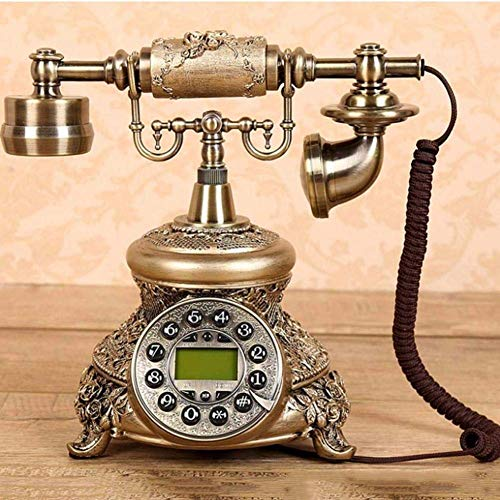 YUEZPKF Schön Upgrade Telefon, Telefon/Drucktasttelefon Telefon mit Lautsprecher, digitales, schnurloses Telefon Base Office Home Festnetz Creative Report Telefon für Home Kitchen Hotel Büro
