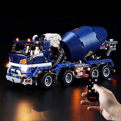 BRIKSMAX Kit de Iluminación Led para Lego Technic Camión Hormigonera,Compatible con Ladrillos de Construcción Lego Modelo 42112, Juego de Legos no Incluido (Versión de Control Remoto)