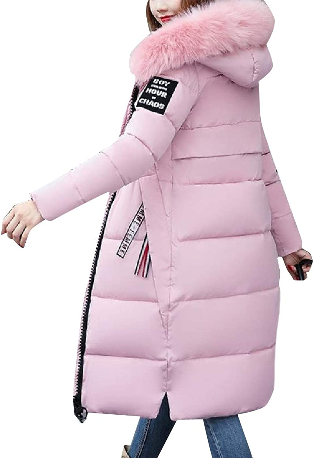 ROHEP Womens Thickened Winter Slim Fitted PlusSize Warm Cotton Jacket