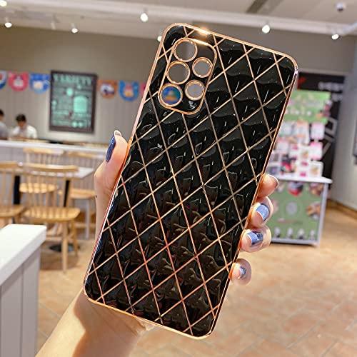 NC YXKJ Cover Compatibile con Samsung Galaxy A32 4G, Custodia Protettiva Anti-Caduta e AntiGraffio con Placcatura in TPU Morbida - Nero