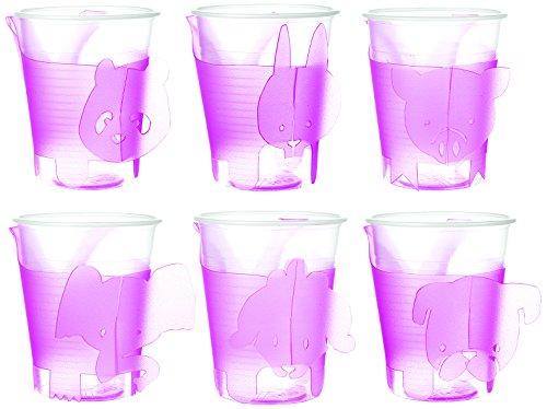 e-my 54170035 6-er Set Becherhalter Smartpet Party Animals
