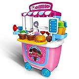 GizmoVine Spielzeug für 3 Jahre Altes Mädchen,Eiswagen Lebensmittel Trolley Spielzeug Rollenspiel...