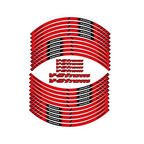 Motocicleta Delantero y Trasero del Borde del Borde Exterior Etiqueta de Moto Etiqueta de Moto Impermeable Ribra de Raya Cinta calcomanía para Suzuki V-Strom V-Strom (Color : 180621)