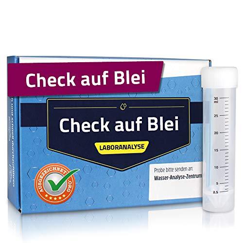 Aquakaiser Blei Wassertest für Trinkwasser/Leitungswasser – Analyse im Deutschen Fachlabor – inkl. Probenahme-Set