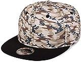 styleBREAKER Gorra Snapback con Estampado de Camuflaje, Gorra de béisbol, Ajustable, Unisex 04023045, Color:Beige-Marrón