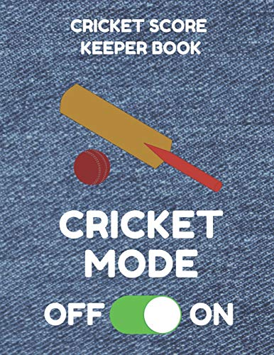 Cricket Score Keeper Book: Scorebook of 100 Score Sheet Pages for Cricket Games, 8.5 by 11 Inches, Funny Mode Denim Cover