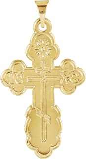 gold orthodox cross pendant