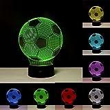 Linkax Veilleuse LED 3D Lampe Optique Illusion Veilleuse Enfant Lampe de nuit pour...