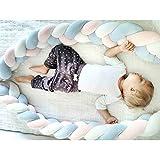 ベビーベッドガード サイドガード 抱き枕 ノットクッション 赤ちゃんベッドバンパー ソファークッション 結び目 ロング 部屋飾り 撮影小物 出産祝い プレゼント