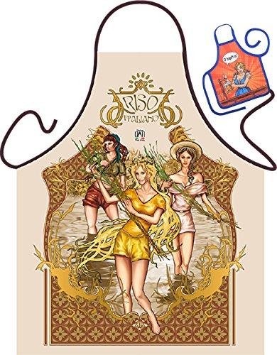 Riso – Fun Tablier humoristique pour fêtes et mini pour la bouteille