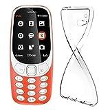 MAXKU Nokia 3310 2017 Hülle, Ultra Slim Schutzhülle Soft Silikon TPU Bumper Case Cover Handyhülle für Nokia 3310 2017, Transparent