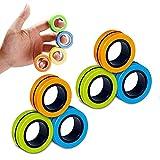 6PCS Magnetic Rings, Fidget Rings,Roller...
