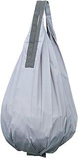 マーナ(MARNA) Shupatto (シュパット) コンパクトバッグ Drop (ドロップ) グレー 縦型 しずく 一気にたためるエコバッグ S460GY バッグ使用時:28×56cm
