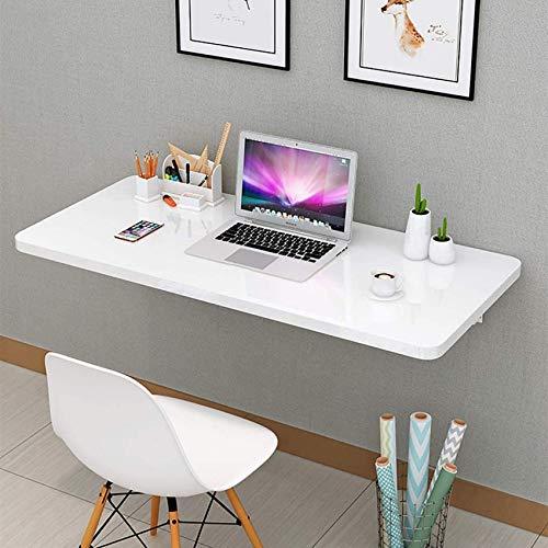 LJYY Mesa Plegable de Pared Mesa de Estudio para Apartamentos pequeños para el hogar Mesa de Comedor Mesa de Pared Invisible Mesa Plegable de Cocina con Soporte Blanco