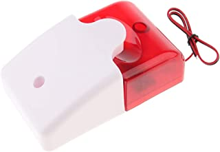 Baosity 12V Hardwired Indoor Strobe Siren Home Security Fire Alarm Red 100dB Bright LED Light