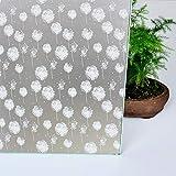 HUANGRONG Lámina adhesiva decorativa para ventana de privacidad, para el hogar, baño, ducha, sala de estar, ventana, película de privacidad (tamaño: 45 cm x 200 cm)