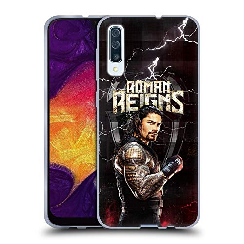 Head Case Designs Offizielle WWE Roman Reigns Superstars Soft Gel Huelle kompatibel mit Samsung Galaxy A50s (2019)