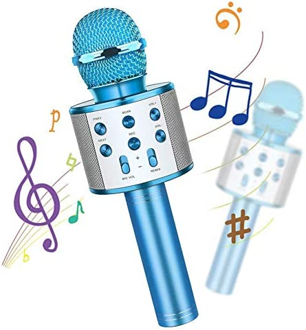 Wireless Bluetooth Kids Karaoke Microphone with LED Lights 4 in 1 Portable Microphone Mic Speaker product image