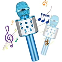 Emisk 4 in 1 Portable Wireless Karaoke Microphone with LED Lights