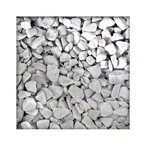 Kieskönig Marmorsplitt Carrara Weiss Marmorkies Gartenkies Zierkies Edelsplitt 22/30 mm 5 kg Sack