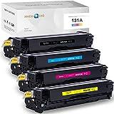 Swiss Ink - Tóner Compatible con HP 131A 131X CF210a-CF213a CF210X, HP Laserjet Pro 200 Color MFP M276nw M276n M251n M251nw, Color Negro, Cian, Magenta y Amarillo