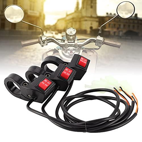 Hoseten Interruptor de Engranaje del Manillar, Interruptor de Scooter Resistente y Duradero 3 Piezas 22 mm / 0.9in para Bicicletas eléctricas para Scooters eléctricos