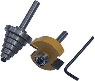 Juego de Rabbet Router Bit Fresa para Ranurar de Carpintería con 6 Rodamientos, Brocas de Ebanistería