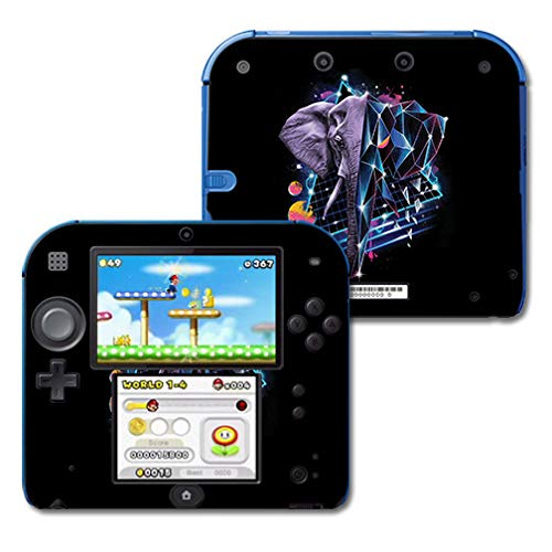 MightySkins Skin Compatible with Nintendo 2DS - Eccentric Elephant | Protective, Durable, and Unique Vinyl Decal wrap Cover | Easy to Apply, Remove, and Change Styles | Made in The USA