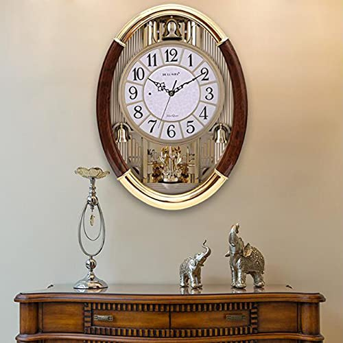 WSDDNXM Reloj de Pared Silencioso Sin tictac de Cuarzo Funciona con Pilas Reloj de Informe de Control NLight Redondo Hogar/Oficina/Aula/Escuela Reloj Decorativo para el hogar