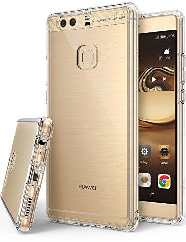 Ringke Funda para Huawei P9 Plus, [Fusion] Protector de TPU con Parte Posterior Transparente de PC Caso Protectora biselada - Transparente Clear