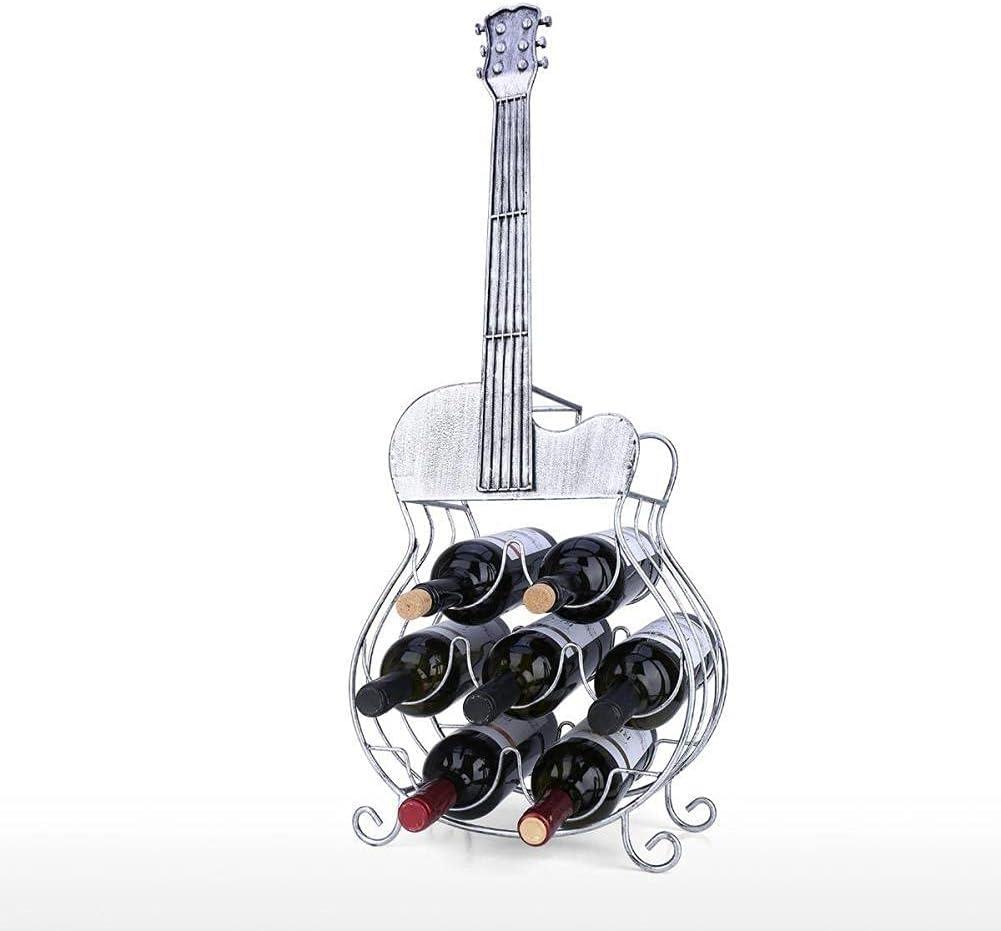 NFRADFM 7 Botellas de Guitarra Estante de Vino Decoración de Guitarra Grande Moderno Estante de Vino MANDICA ANUNZAJE Y Almacenamiento Decoración para el hogar Decoración de la Pared.