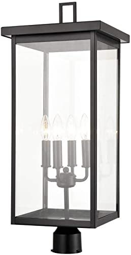 new arrival Millennium 2604-PBK new arrival Transitional Four Light Outdoor Post Lantern from new arrival Barkeley Collection Finish, Powder Coat Black online