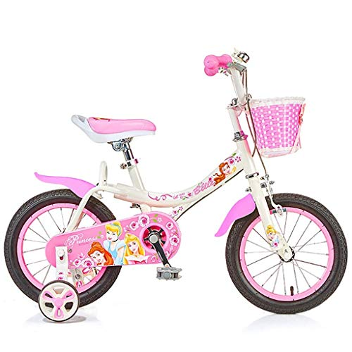 Xiaoyue Geeignete Fahrräder Fahrrad for Mädchen-Mädchen im Freien Fahrrad Indoor Mädchen Übungs-Fahrrad Nettes Fahrrad reizenden Fahrrad 14 Zoll 16 Zoll Rosa Fahrrad (Farbe: B, Größe: 16inches) lalay