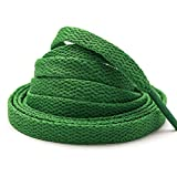 """Stepace [2 Pairs] Flat Shoe Laces for Sneakers 5/16"""" Width 30""""-72"""" Length 26 Color Shoelaces Green 54""""(137 cm)"""