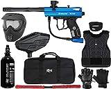 Action Village Kingman Spyder Victor Protector Paintball Gun Package Kit Protector 1 (Gloss Blue, Glove Size - Small/Medium)